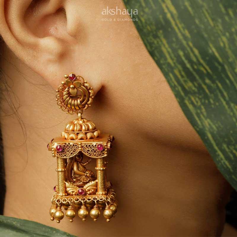 Akshaya Gold Earring GL10118
