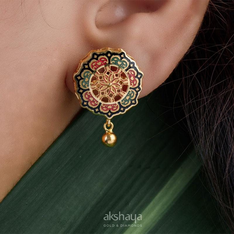 Akshaya Gold Earring GL10121
