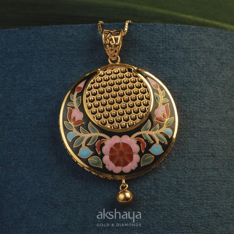 Akshaya Gold Pendant GL10514