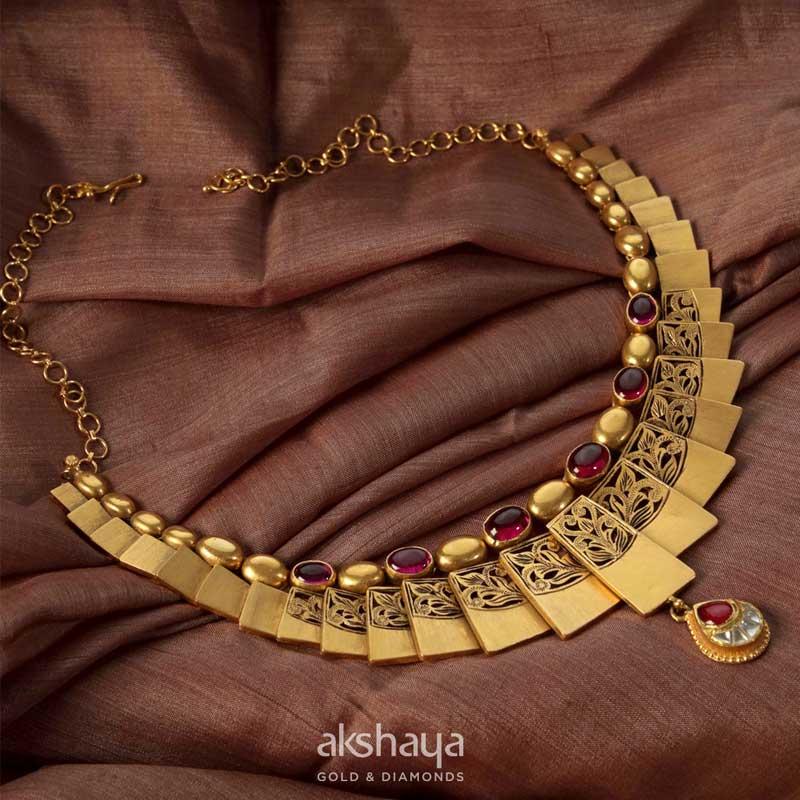 Akshaya Gold Necklace GL10215