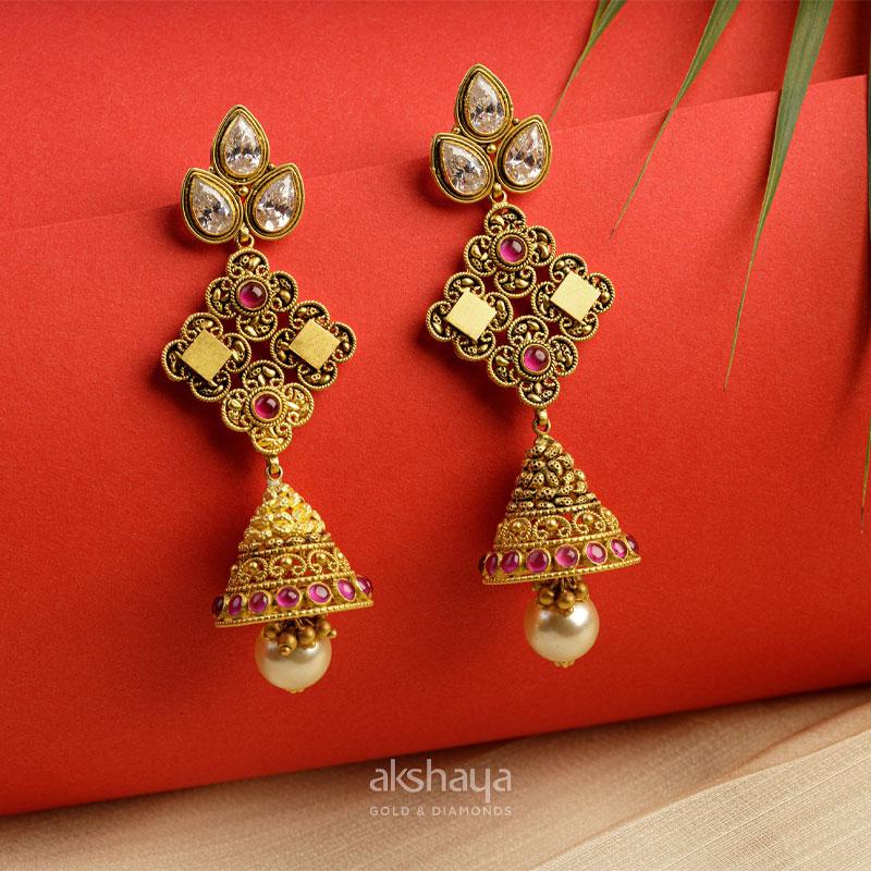 Akshaya Gold Earring GL10123