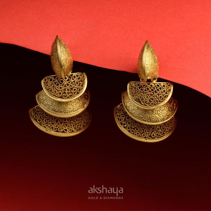Akshaya Gold Earring GL10125