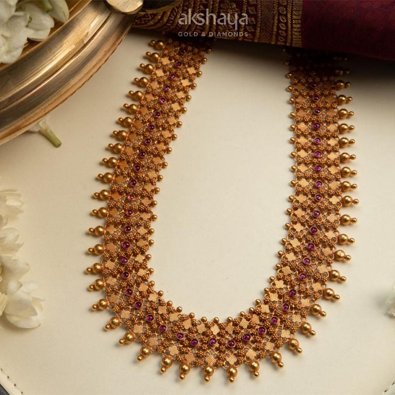 Akshaya Gold Necklace GL10233