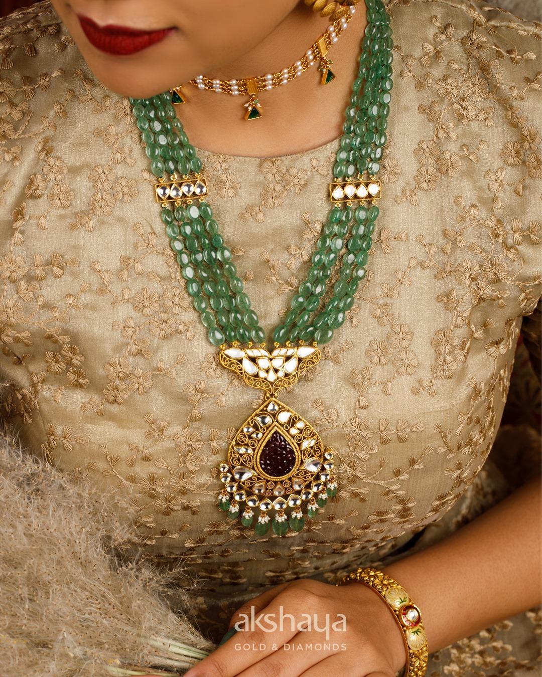 Akshaya Gold Necklace GL10249