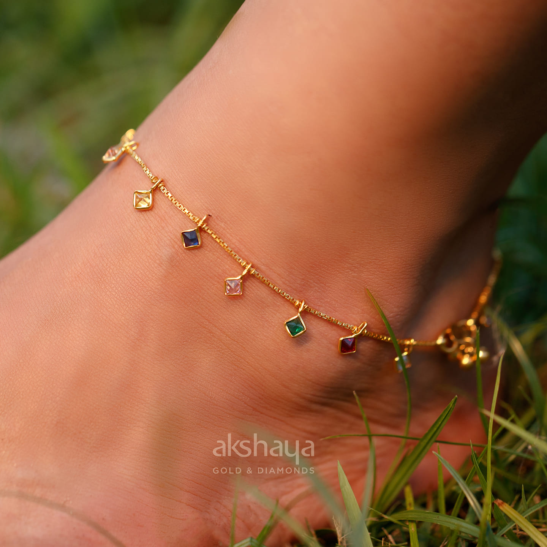 Akshaya Gold Anklet GL11801