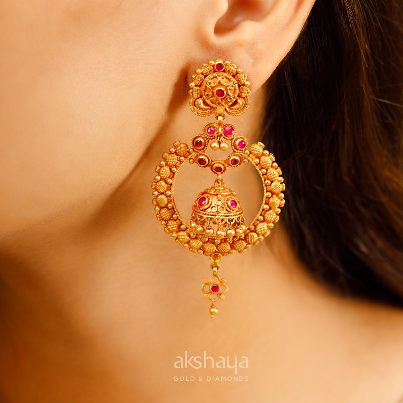 Akshaya Gold Earring GL10141