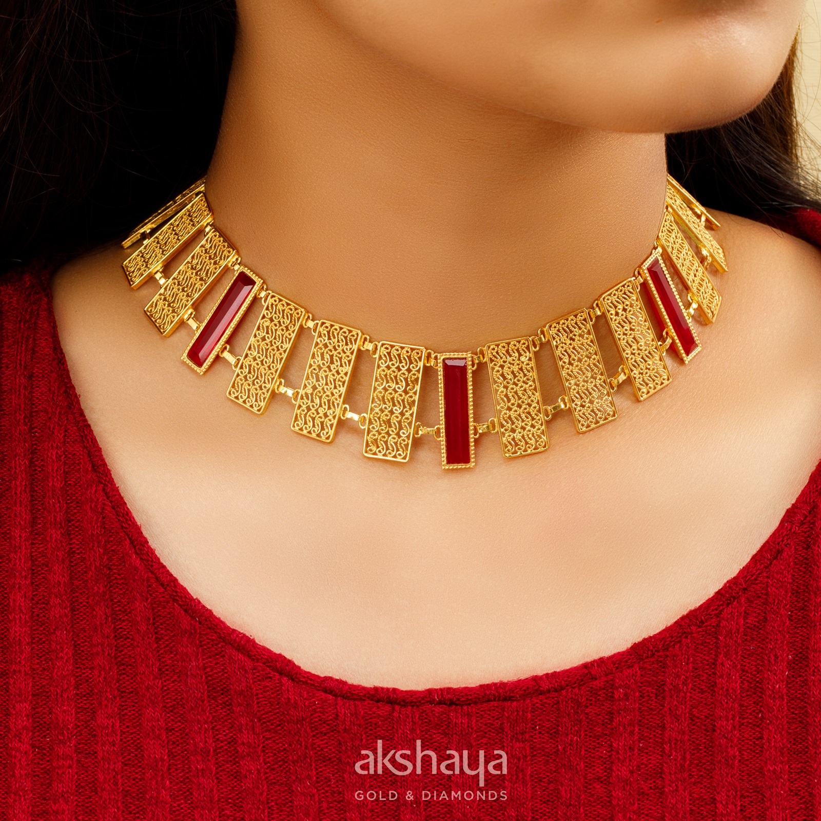 Akshaya Gold Necklace GL10258