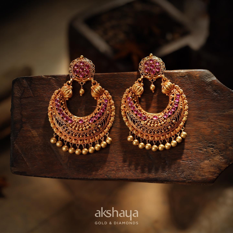 Akshaya Gold Earring GL10135