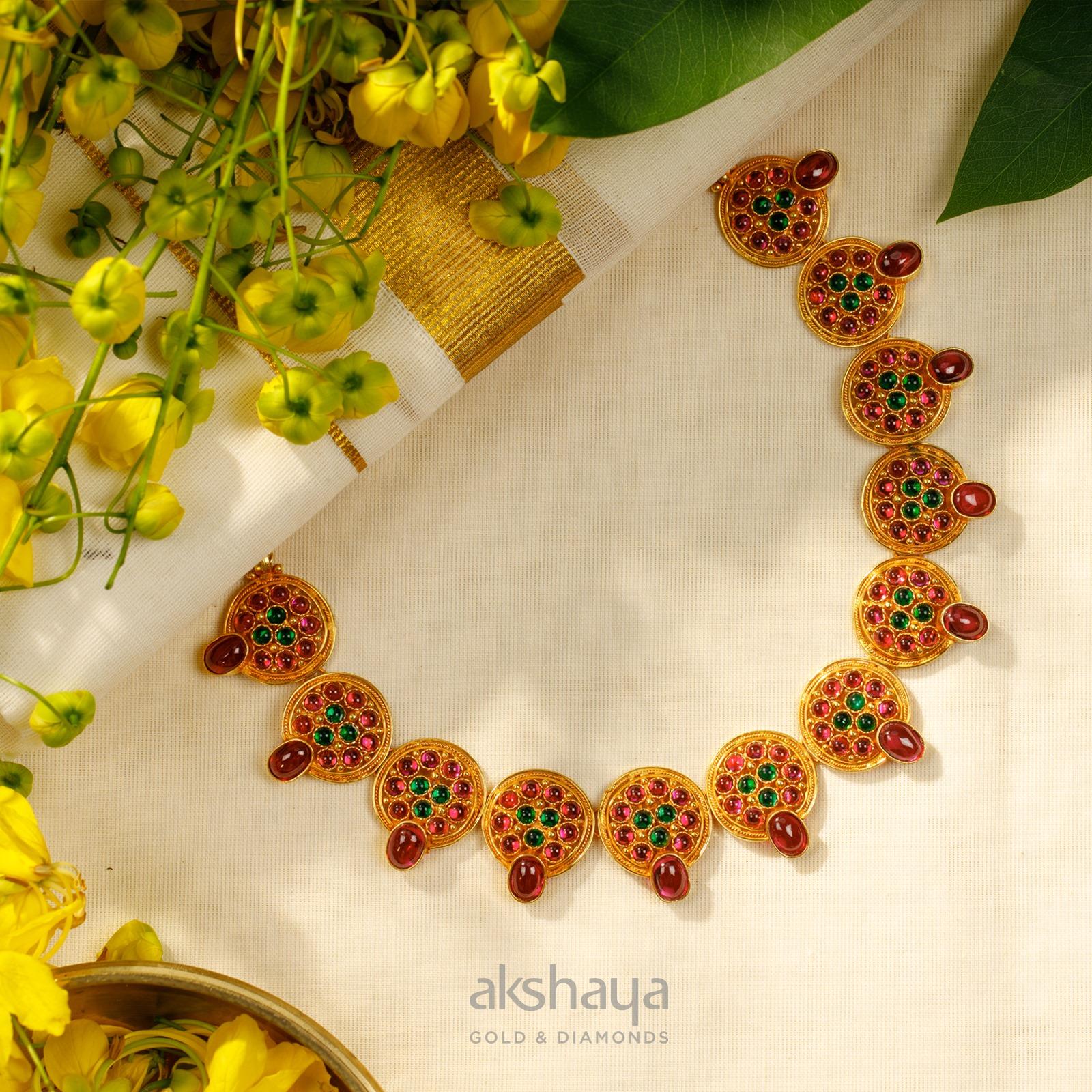 Akshaya Gold Necklace GL10265
