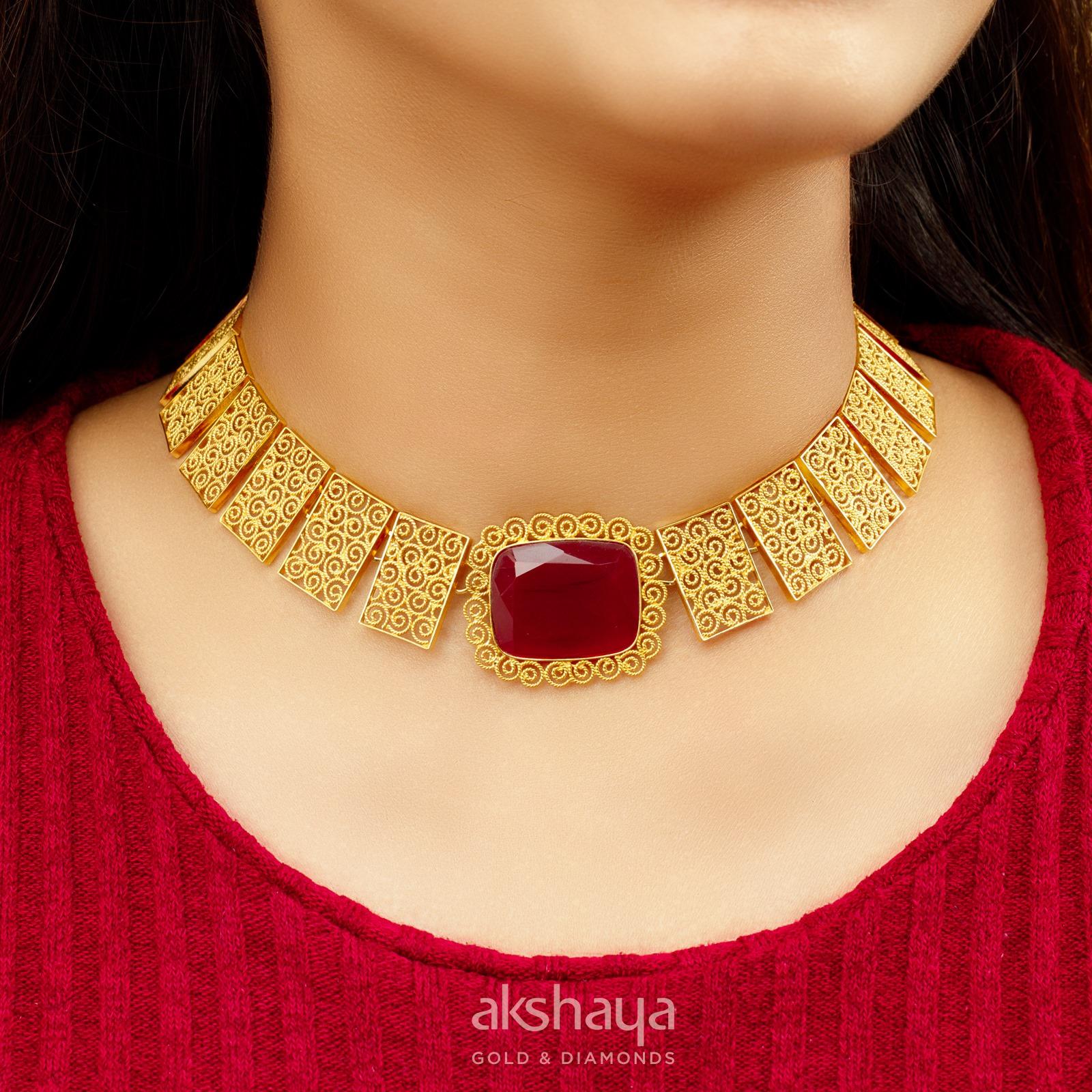 Akshaya Gold Necklace GL10256