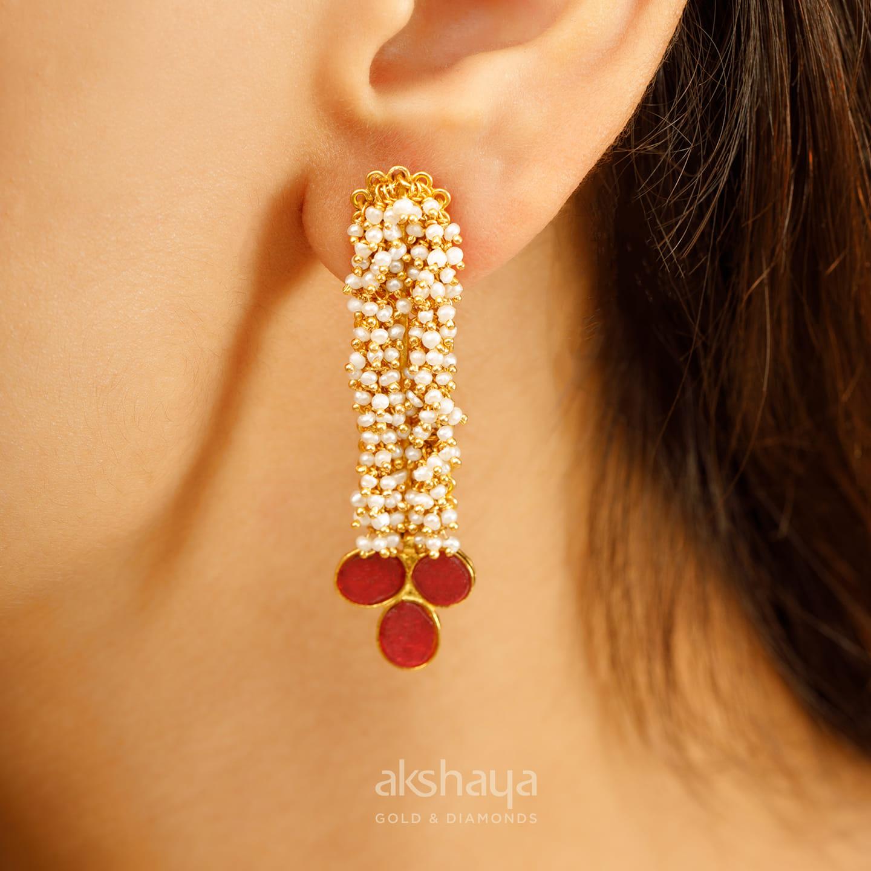 Akshaya Gold Earring GL10140
