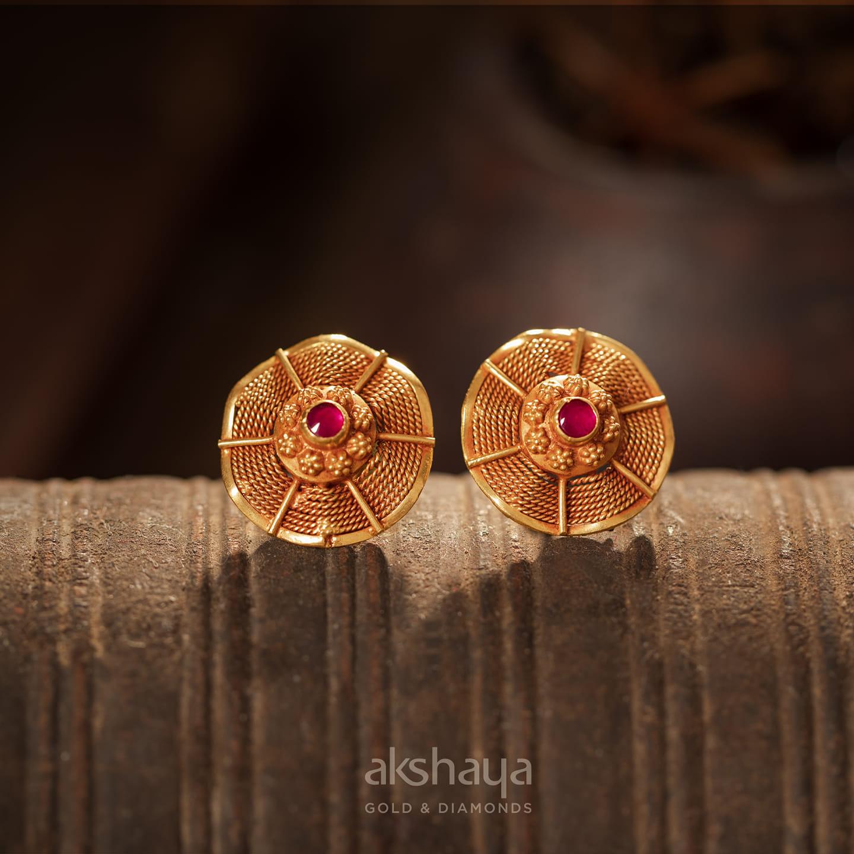 Akshaya Gold Earring GL10136