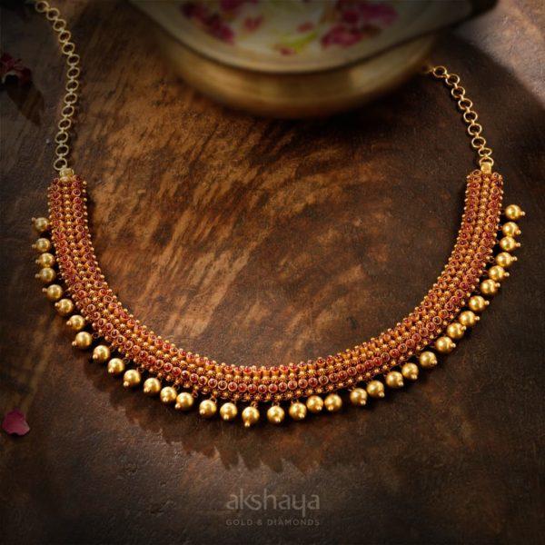 akshaya Gold Necklace GL10284