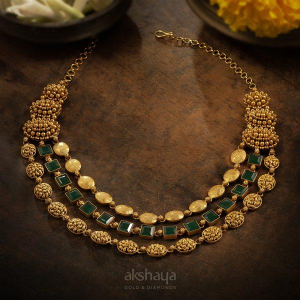 Akshaya Gold Necklace GL10287