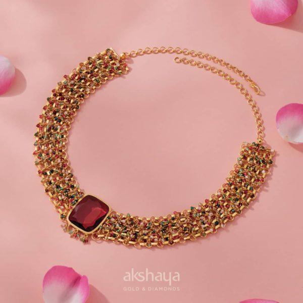 Akshaya Gold Necklace GL10288